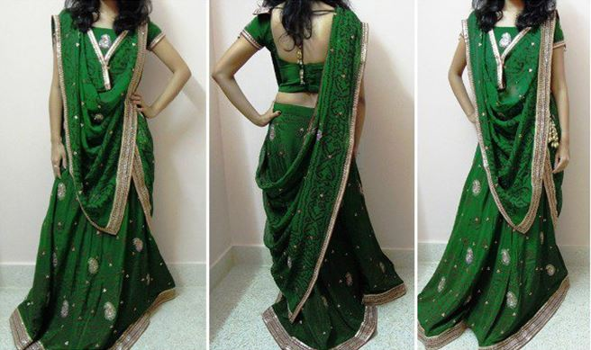 how to wear a half saree & look stunning