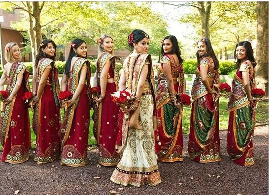 Gujarati Bridal Saree Draping Styles