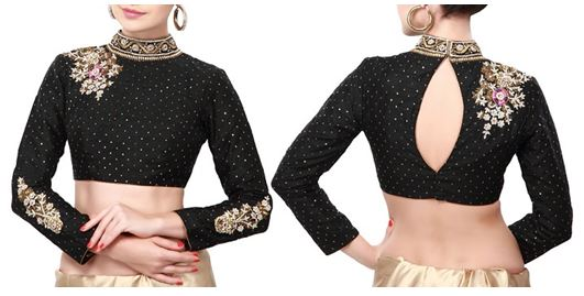 saree blouse sleeve design