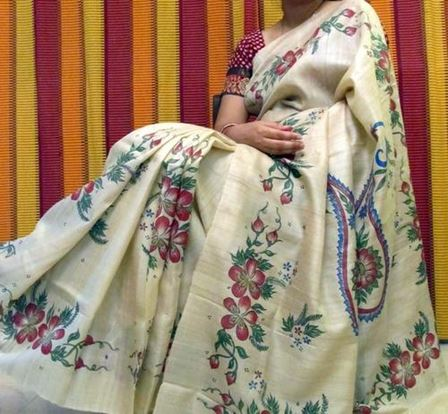 Painting on Saree