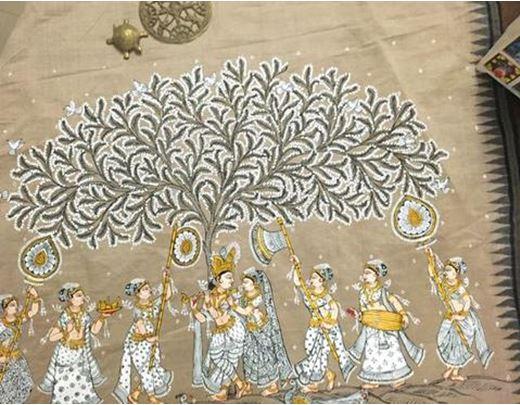 Painting on Saree