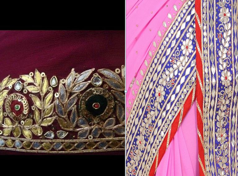 Hand Work Saree Border Designs