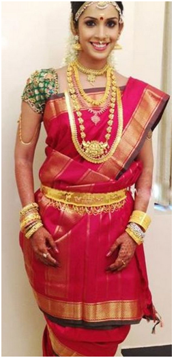 Wear Saree in Tamil Nadu Style