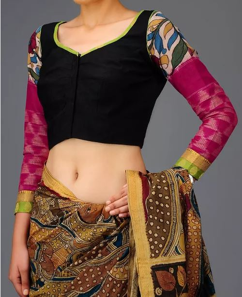 Cotton Saree Blouse Patterns