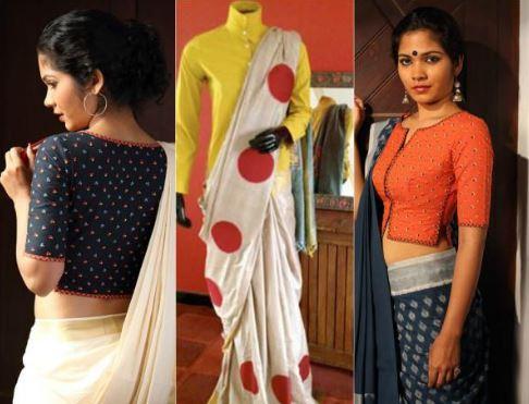 Cotton Saree Blouse Patterns