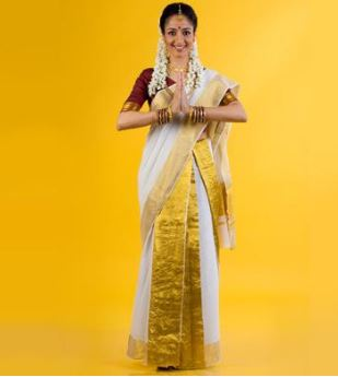 Wear Saree in Kerala Style