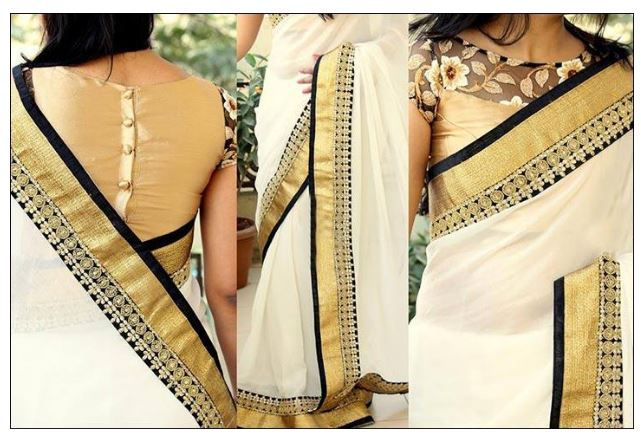 15 Best Kasavu Saree Blouse Patterns  8f7cfddac1
