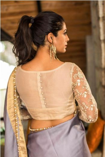 Kasavu Saree Blouse Patterns