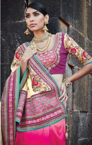 Saree Draping in Lehenga Style