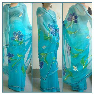 Saree Painting Design